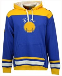 Majestic Men's Golden State Warriors Double Double Hoodie Royalblue Gold White