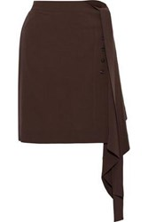 Rick Owens Woman Draped Wool Mini Skirt Grape
