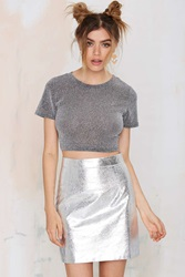 Nasty Gal Space Cowgirl Metallic Skirt
