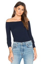 Gettingbacktosquareone Off The Shoulder Long Sleeve Blue