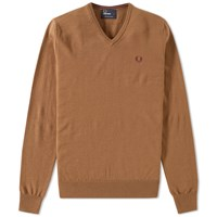 Fred Perry Classic V Neck Sweater Brown