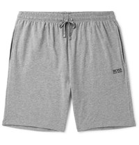 Hugo Boss Stretch Cotton Jersey Lounge Shorts Gray