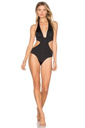 Beach Bunny Basic One Piece Swimsuit Black