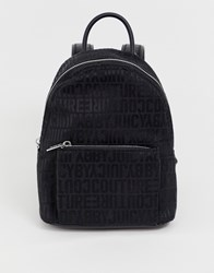 Juicy Couture By Jacquard Logo Medium Sized Backpack Black