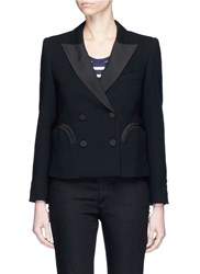 Blaze Milano 'Spencer Cool And Easy' Cropped Wool Blazer Black