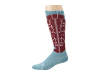 Ariat Western Boot Sock Blue Red Women's Knee High Socks Shoes