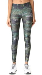Terez Heathered Camo Tall Band Leggings Multi
