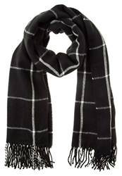 Dorothy Perkins Window Pane Scarf Black