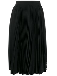 Acne Studios Pleated High Waisted Skirt Black