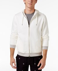 Brooks Brothers Red Fleece Men's French Knit Cotton Hoodie White