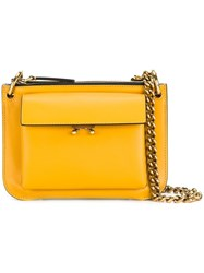 Marni Pocket Crossbody Bag Yellow Orange