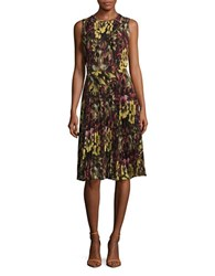 Catherine Malandrino Floral Print Dress Yellow Black Orange