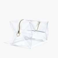 Madewell Square Crystalline Travel Bag Clear