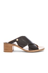 Chloe Chloe Criss Cross Leather Sandals In Black