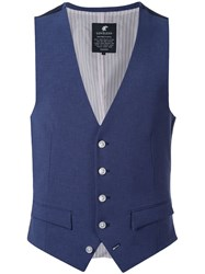 Loveless Button Up Vest Blue