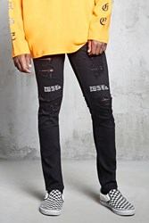 Forever 21 Believe Only Graphic Jeans Black White