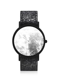 South Lane Avant Diffuse Invert Watch Black And Foil Silver
