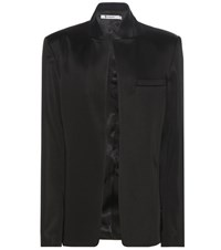 Alexander Wang Satin Blazer Black