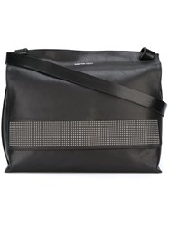 Alexander Mcqueen Studded Flap Messenger Bag Black