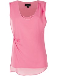 Emporio Armani Double Layered Top Pink And Purple