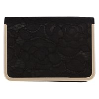 Coast Faye Lace Clutch Bag Black