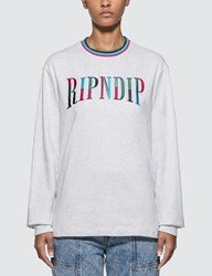Ripndip Color Block Long Sleeve T Shirt Grey
