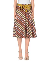 Giorgia And Johns Giorgia And Johns Skirts Knee Length Skirts Women Brown