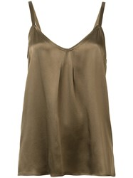 Vince Sleeveless Silk Top Women Silk Xs Brown