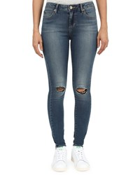 Articles Of Society Sarah Skinny Distressed Denim Jeans Blue