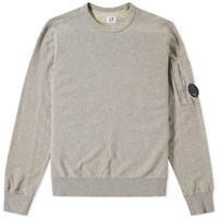 C.P. Company Arm Lens Crew Sweat Grey