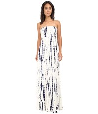 Culture Phit Hally Dress White Navy Tie Dye Women's Dress