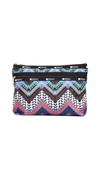 Le Sport Sac Lesportsac Taylor Large Top Zip Cosmetic Case Beaded Chevron