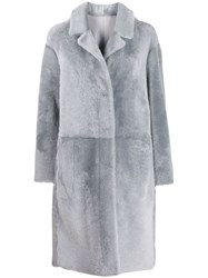 Drome Panelled Longline Coat Grey