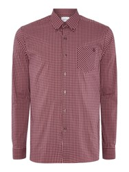 Peter Werth Pearson Gingham Stretch Cotton Shirt Pink
