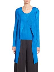 Issey Miyake Long Open Front Cardigan