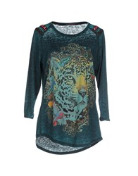 Custo Barcelona Topwear T Shirts Women Deep Jade