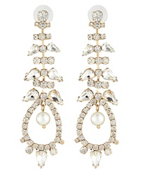Fragments For Neiman Marcus Fragments Pearly Crystal Chandelier Earrings