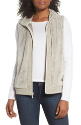 The North Face Faux Fur Vest Peyote Beige