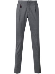Incotex Slim Fit Tailored Trousers Men Wool 46 Grey