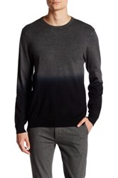 Vince Camuto Dip Dye Crew Neck Sweater Gray