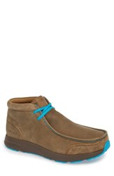 Ariat Spitfire Chukka Boot Brown Bomber Blue Leather