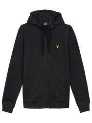 Lyle And Scott Funnel Neck Full Zip Hoodie True Black