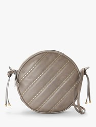And Or Ella Circle Leather Cross Body Bag Grey