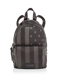 John Varvatos Star Usa Flag Backpack Charcoal