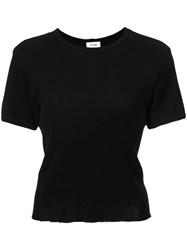 Re Done Ribbed T Shirt Black