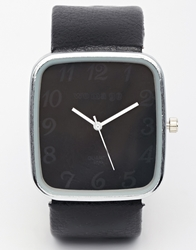Reclaimed Vintage Square Watch Black