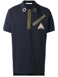 Givenchy Zip Polo Shirt Blue