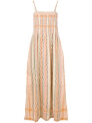 Cecilie Copenhagen Cerone Maxi Dress Yellow And Orange