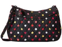 Vera Bradley Little Crossbody Havana Dots Cross Body Handbags Black
