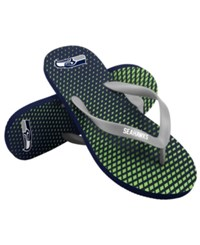 Forever Collectibles Seattle Seahawks High End Flip Flops Navy